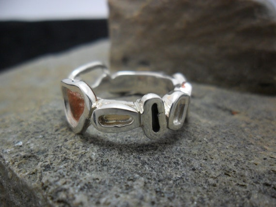 ring in sterling silver copper and gold to by