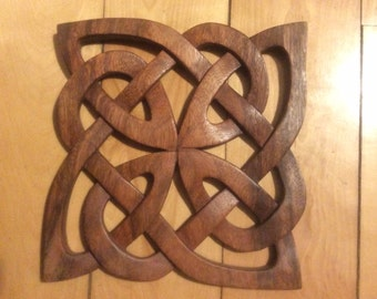 Square Celtic knot ...Celtic wood carving