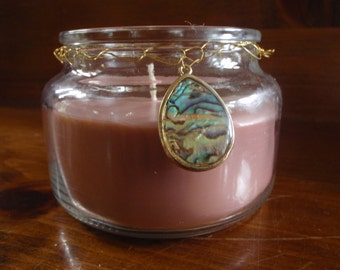 Vanilla Coffee Scented Soy Candle with Charm