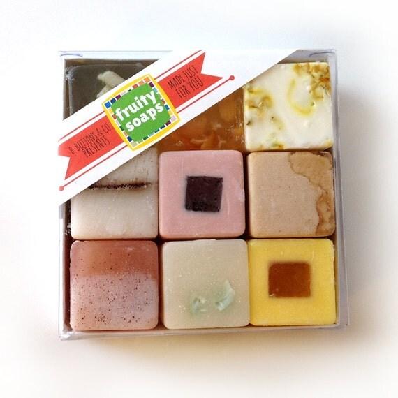 Fruity Soaps Gift Set Unique Gift for women or men Nine