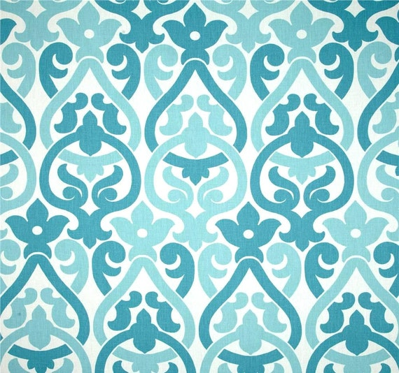 designer blue home decor fabric by the yard cotton by