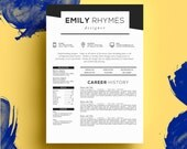 THE EMILY RHYMES • resume + cover letter package • microsoft word  •  free 2nd page!