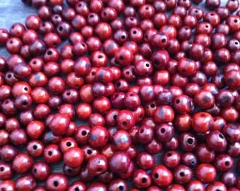 50pcs/100pcsNatural Amazon Rainforest Handmade  Brown Acai seed Beads Canada