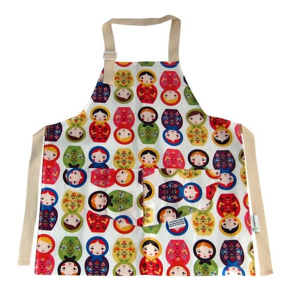 Kids Childrens Apron Pinny Waterproof Laminated Cotton