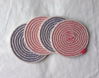 "Cotton Cord Coasters-Set of 4 ""Made to Order"""