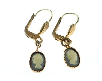 Tiny Cameo Earrings