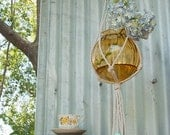 Macrame Plant Hanging: Natural - Perfect for indoor and outdoor use or makes a wonderful gift!
