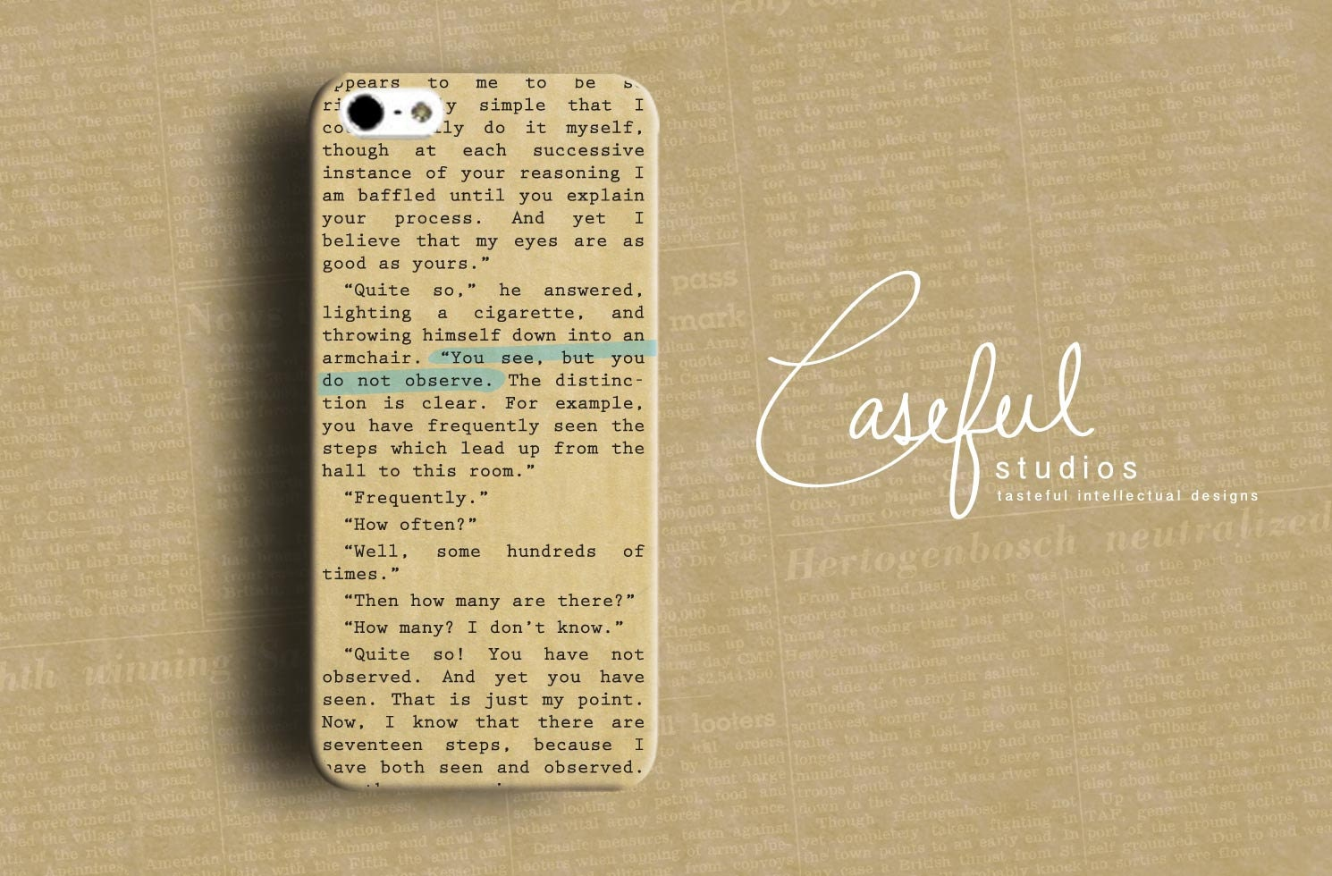 iPhone best phone case iphone 5 : Scandal in Bohemia Book Case iPhone Case - AC DOYLE iPhone 4 4s 5 ...
