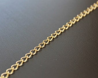 1mm 18K Gold Filled Chain, Bulk Wholesale, Continuous Chain, Soldered Links -5 ft.