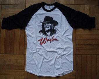 Waylon Jennings t-shirt new vintage style concert tour band america choose size XS-3XL