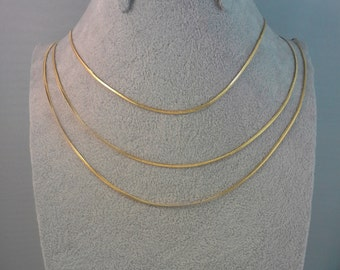 5 pcs wholesale ready made 14k gold filled snake chain stainless steel base