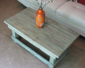 SALE Rustic Coffee Table in Original Color Pop