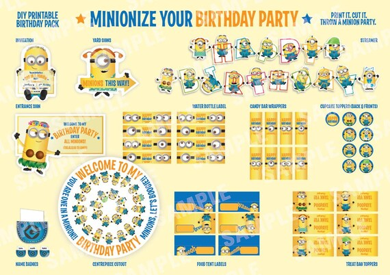 Minions Birthday Invitation as awesome invitation layout