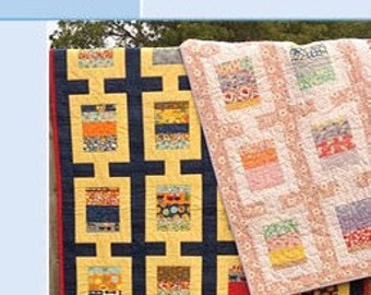 """Flip A Coin, Quilt Pattern for use with Charm Pack, 5"""" Charms. PRINT VERSION."""