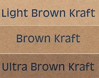 INKJET & LASER Brown Kraft Self Adhesive Decal Paper - Make Earthy Organic Designs - Endless Possibilities!