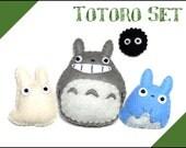 Felt doll - Totoro Set - Inspired by My Neighbour Totoro - PDF Pattern