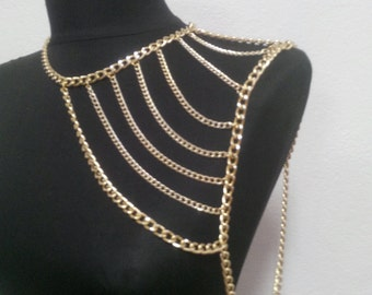 gold shoulder chain,shoulder necklace,body chain,body necklace *170