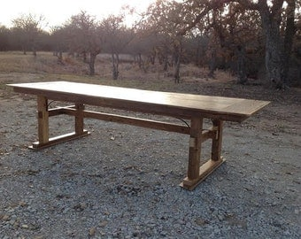 Reclaimed Wood Trestle Table