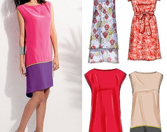 McCall's Sewing Pattern M6551 Misses' Dresses and Belt
