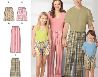 Child's, Teens' and Adults' Pants and Shorts Simplicity Pattern 1520