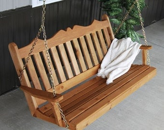 Red Cedar Royal English 4ft. Outdoor Porch Swing
