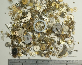 30g Watch parts Jewellery making steampunk altered art craft cyberpunk cogs crafts