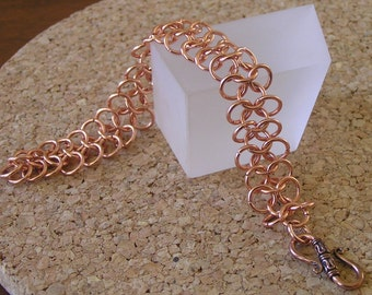 Copper Chainmail Bracelet, 4 in 1 Copper Chainmail Bracelet Decorative Copper Clasp,Copper Chainmail Bracelet Chainmaille Chainmail Bracelet
