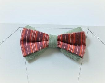 Wedding bow tie. Pale Green Bow Tie. Brick Red Bow Tie Striped bow tie Multicolor bow tie Men's bow tie Bow tie for men. Terracotta tie
