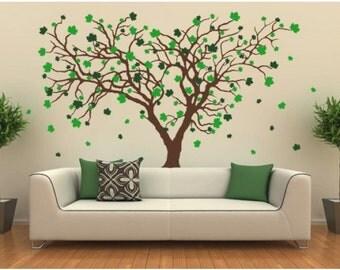 Big Maple tree wall decal, sticker, mural, vinyl wall art