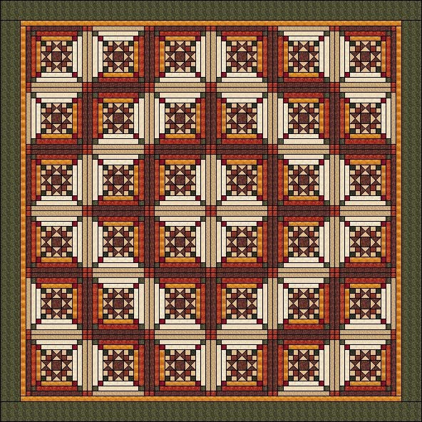Log Cabin Quilt Pattern Ohio Star In Log Cabin Star In The