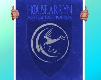 Game of Thrones House Arryn - Bird and Moon - Art Print / Poster / Cool Art - Any Size