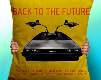 Back To The Future Retro Style - Cushion / Pillow Cover / Panel / Fabric