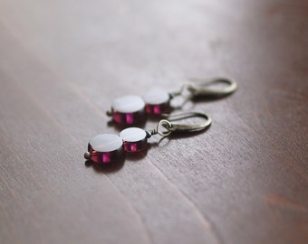 Mauve Circles Earrings