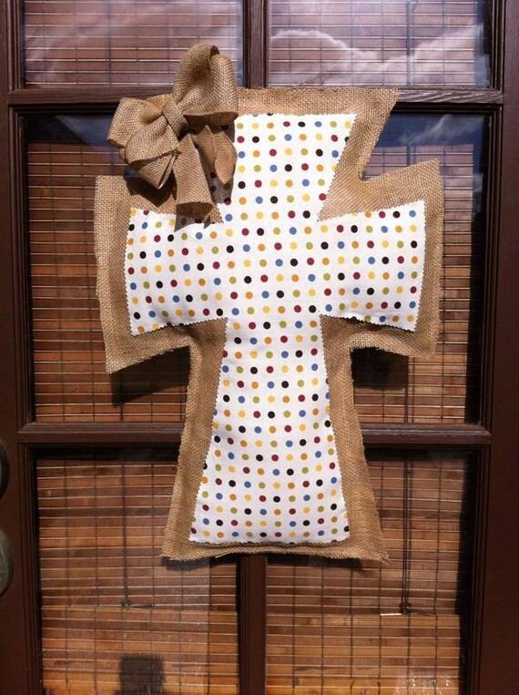 Items similar to polka dot decorative burlap and fabric for Decorative burlap fabric