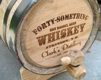 Whiskey Barrel - 2 Liter Personalized Mini Oak Whiskey Barrel- Boyfriend Gift for Him- Birthday Gift -Handcrafted Toasted American White Oak