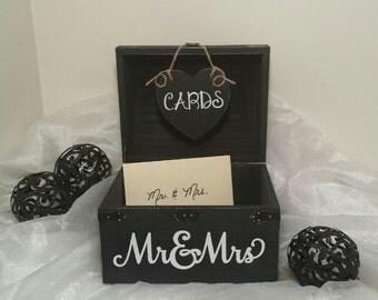 Wedding Card Chest, Medium Keepsake Box, Card Box, Shabby Chic Wedding Card Box, Rustic Wooden Chest Wedding Card Box, Chest Wedding Box