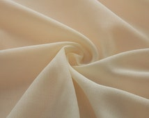 Ivory Crinkled Rayon Challis fabric by the yard