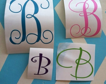Single initial decal