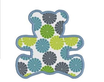 BUY 2, GET 1 FREE - Teddy Bear Applique Machine Embroidery Design - Teddy Bear Outline