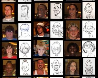 Custom Personalized Caricature Cartoon(Black & White headshot, single) by Peter Battaglioli