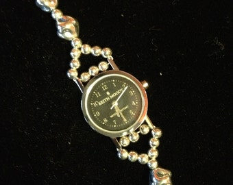 Sterling Silver Beaded Watch