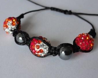 Strawberry Children Shamballa Bracelet - Made in FRANCE
