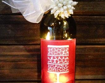 Sweet Symphony Lighted Wine Bottle