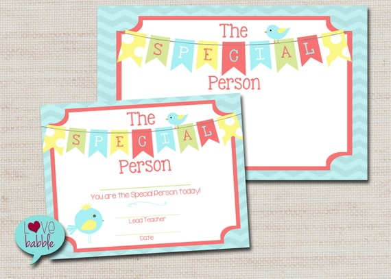 teacher printable student star person of the month week