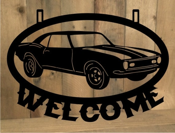 Metal Cut Out Custom Personalized 1968 68 Chevy By