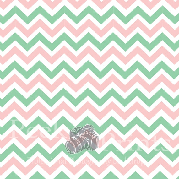 Mint Green And Pink Chevron Images