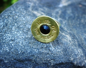 12 Gauge Ring - Shotgun Shell Jewelry - Brass Casing - Adjustable - Ammo Ring - Hunters - Ballistic Jewelry