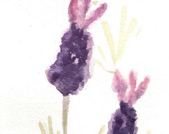 "Original Watercolour ""French Lavender"""