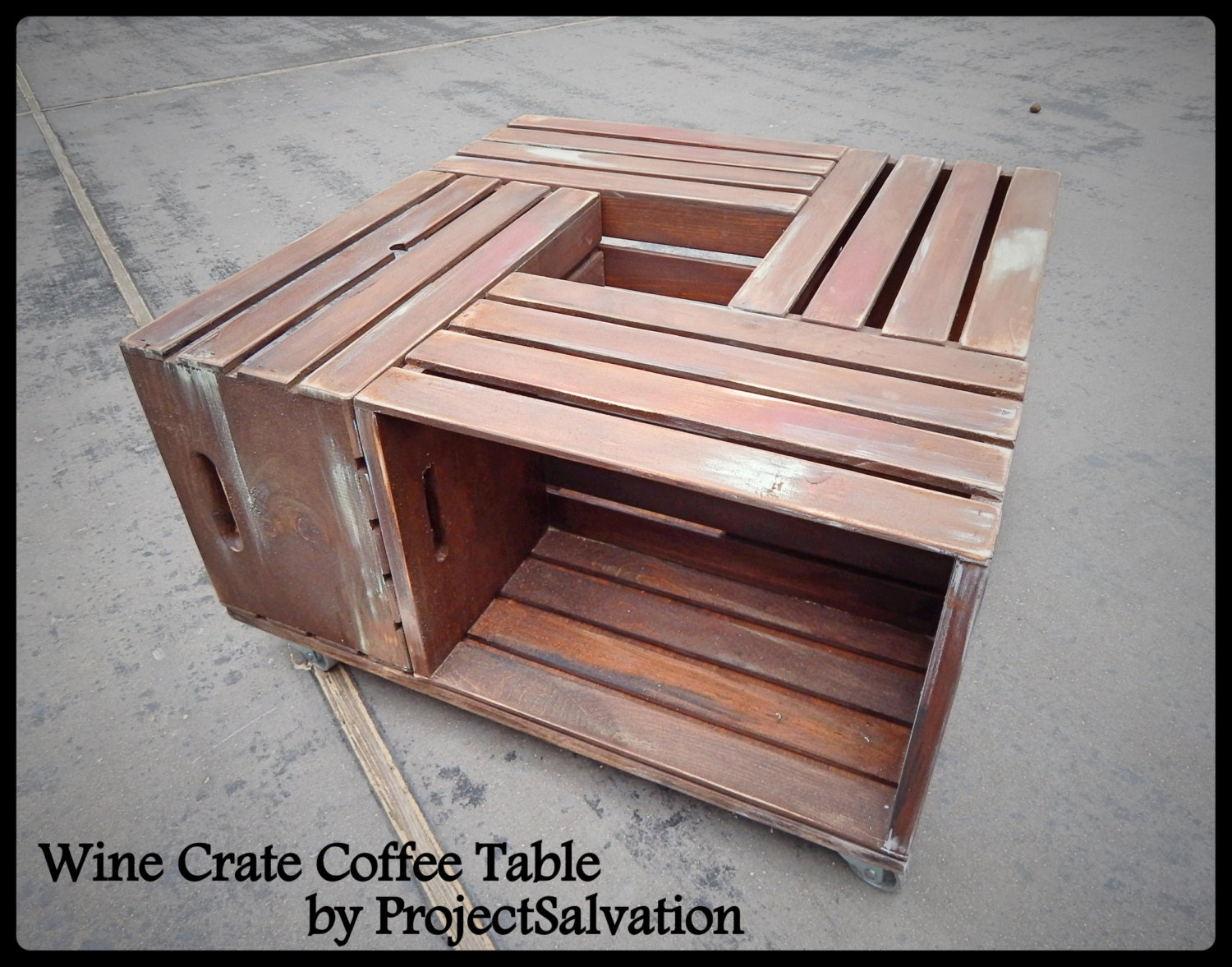 Similar To Reclaimed Wine Crate Coffee Table Reclaimed Coffee Table