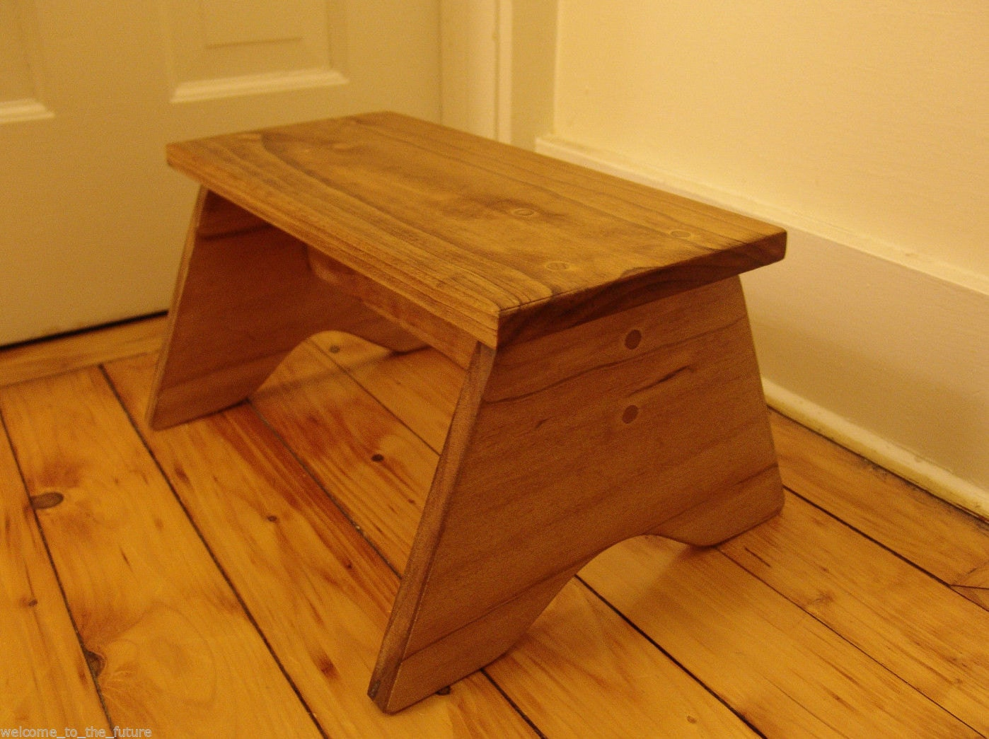 Handcrafted Heavy Duty Step Stool Compact Wood Kids Bathroom
